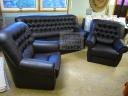 Luxusní kožená sedací souprava 3+1+1 - 61